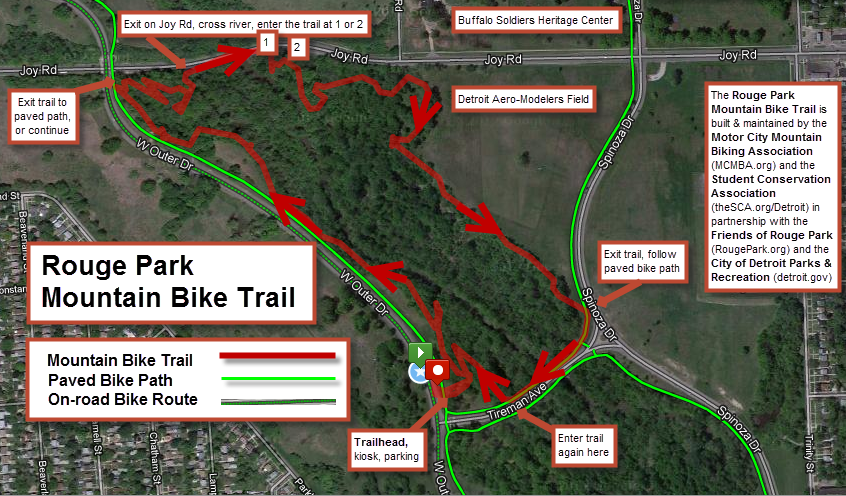 Rouge Park Trail Map